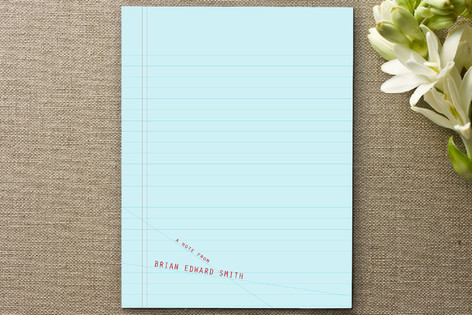 Sloppy Lines Personalized Stationery