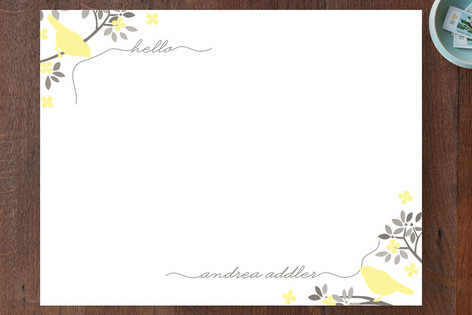Hello Birdy Personalized Stationery