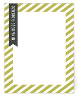 Stripes and Ribbon Personalized Stationery