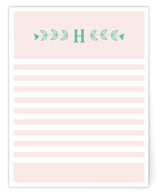 Folk Floral Personalized Stationery