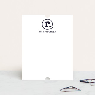 Distressed Monogram Personalized Stationery