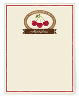 Vintage Fruit Crate Personalized Stationery