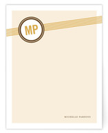 Amber Stripes Personalized Stationery