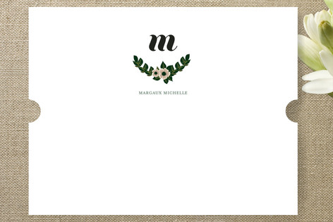 Heirloom Monogram Personalized Stationery