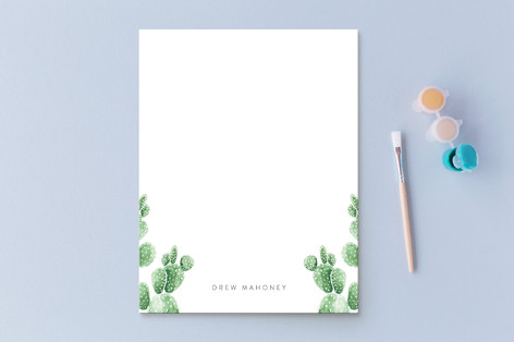Prickly Paired Personalized Stationery