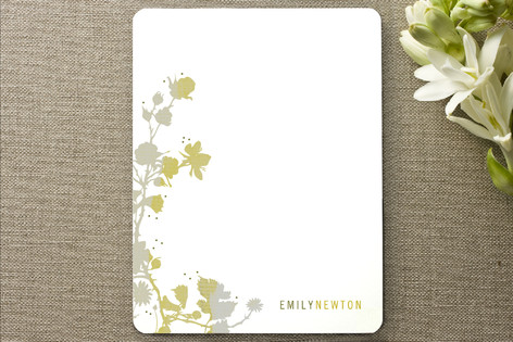 Wall Flowers Personalized Stationery