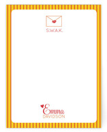 Sealed with a Kiss Personalized Stationery