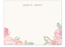 Wild Roses Personalized Stationery