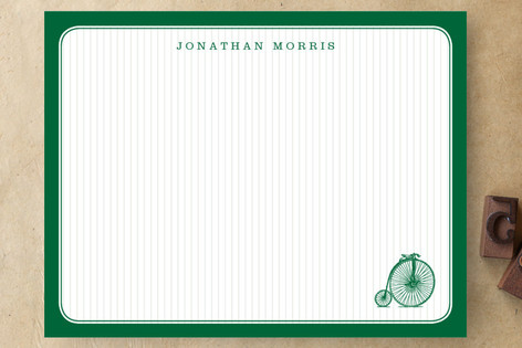 vintage bike Personalized Stationery