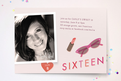 Autograph Sweet Sixteen Party Invitations