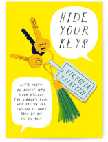 Keys Sweet Sixteen Party Invitations