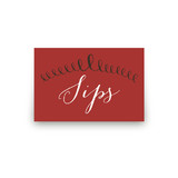 Red Velvet Revelry Table Signs