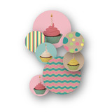 Girlie Cakes Table Confetti