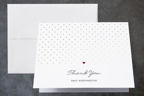 Polka Dot Foil-Pressed Bridal Shower Thank You Cards