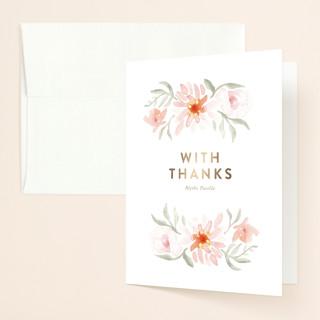Parfumerie Foil-Pressed Bridal Shower Thank You Cards