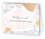 Modern Gems Foil-Pressed Bridal Shower Thank You Cards