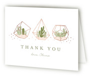 Bridal Terrariums Foil-Pressed Bridal Shower Thank You Cards