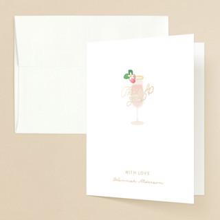 Bubbly & Brunch Foil-Pressed Bridal Shower Thank You Cards