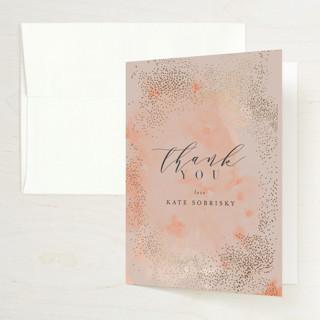 Bridal Shimmer Foil-Pressed Bridal Shower Thank You Cards