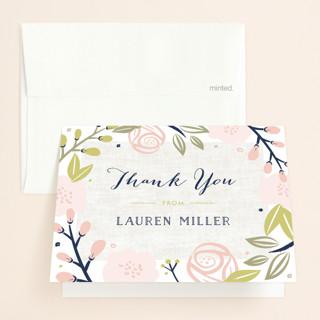 Spring Shower Bridal Shower Thank You Cards