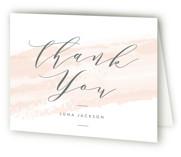 softly brushed Bridal Shower Thank You Cards