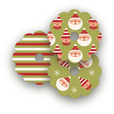 Happy Santa Wine Glass Tags