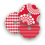Patterned Floral Kraft Wine Glass Tags