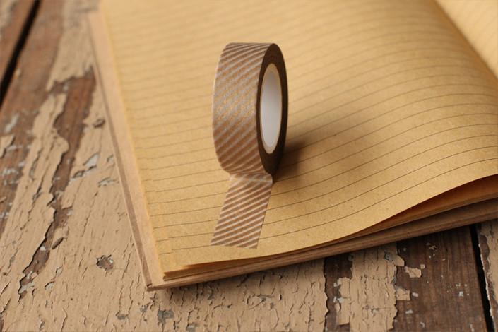 Personalize your holiday gifts - Gold striped washi tape