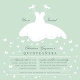 Fluttering Dress Quinceañera Invitations