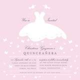 Fluttering Dress Quinceaera Invitations