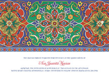 Pintado Quinceaera Invitations
