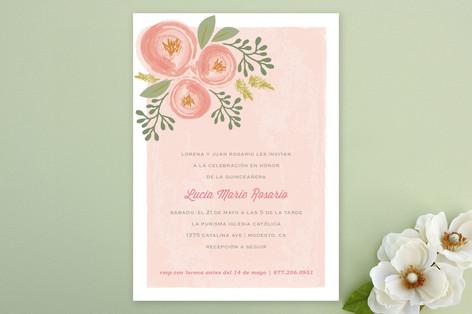 Bonita Blooms Quinceañera Invitations