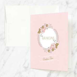 Delicate Quince Quinceañera Thank You Cards