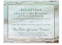 Gilded Shore Foil-Pressed Reception Cards