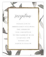 Gilded Woodgrain Foil-Pressed Reception Cards