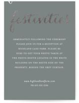 Just Lovely Foil-Pressed Reception Cards