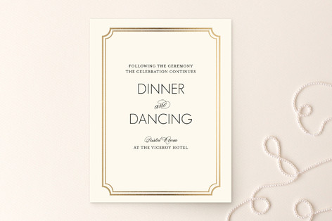 Modern Classic Foil-Pressed Reception Cards