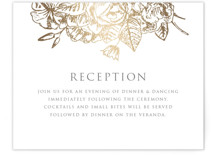 Gilded Wildflowers Foil-Pressed Reception Cards