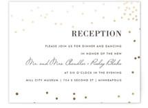 Thrilling Foil-Pressed Reception Cards