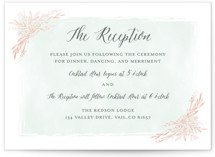 Blooming Corners Foil-Pressed Reception Cards