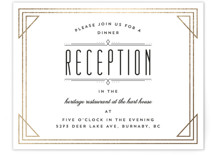 Framed Deco Elegance Foil-Pressed Reception Cards