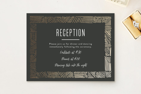 Mod Sketchbook Foil-Pressed Reception Cards