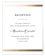 Classic Monogram Foil-Pressed Reception Cards