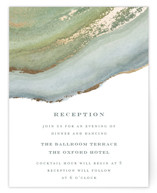 Coastal Lines Foil-Pressed Reception Cards