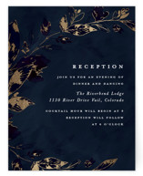 Midnight Vines Foil-Pressed Reception Cards