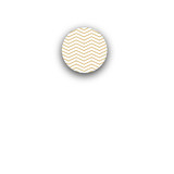 Sophisticated Chevron Rounded Closure Sticker