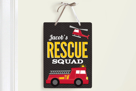 Rescue Squad Room Decor Signs