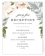 Peony Floral Frame Reception Cards
