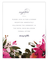 Peeking Florals Reception Cards