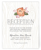 Rustic Wooded Romance Reception Cards